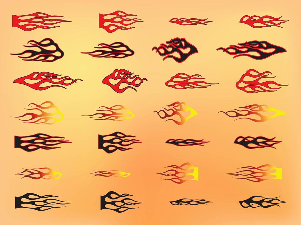 12 Tribal Flame Vector Art Free Images