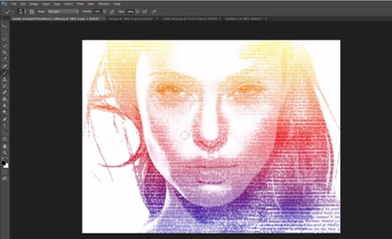 Typography Portrait Tutorial Photoshop