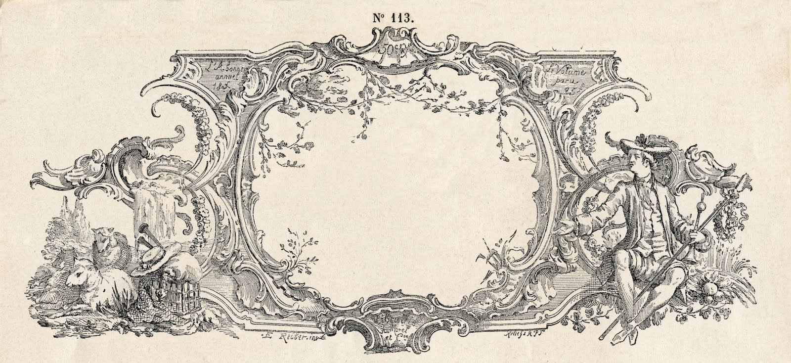 Vintage French Clip Art Free