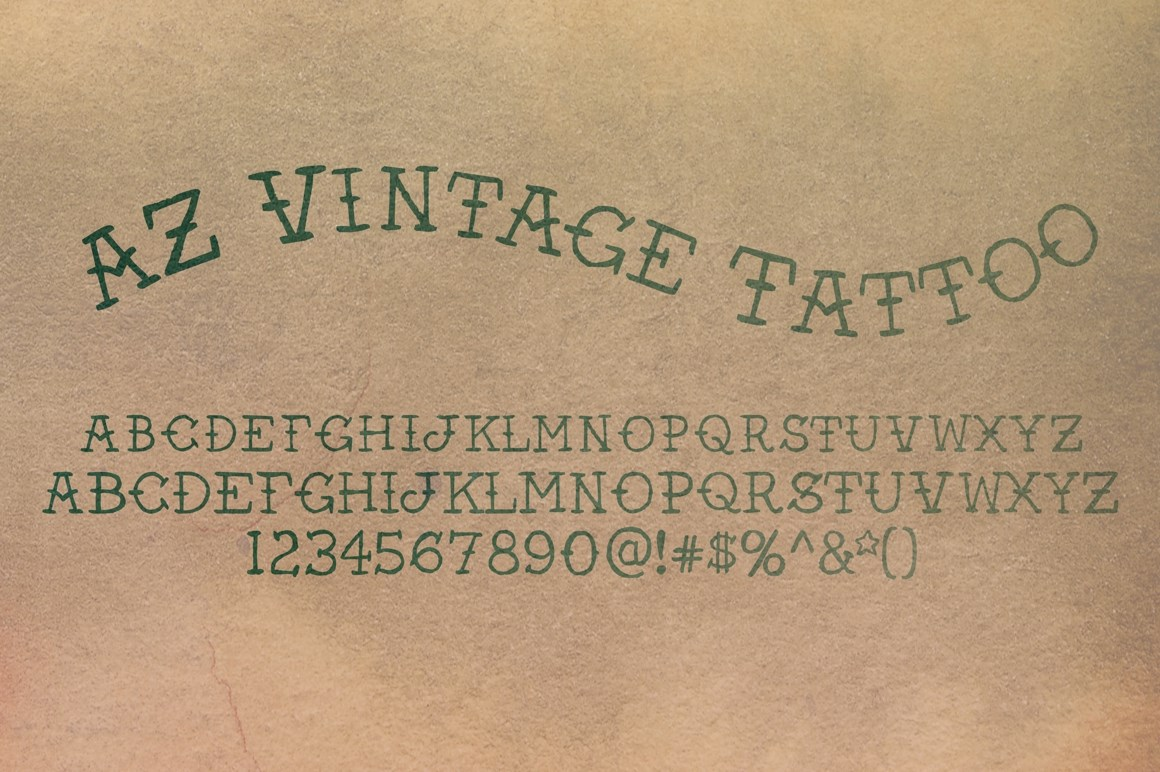 9 Vintage Lettering Fonts AZ Images