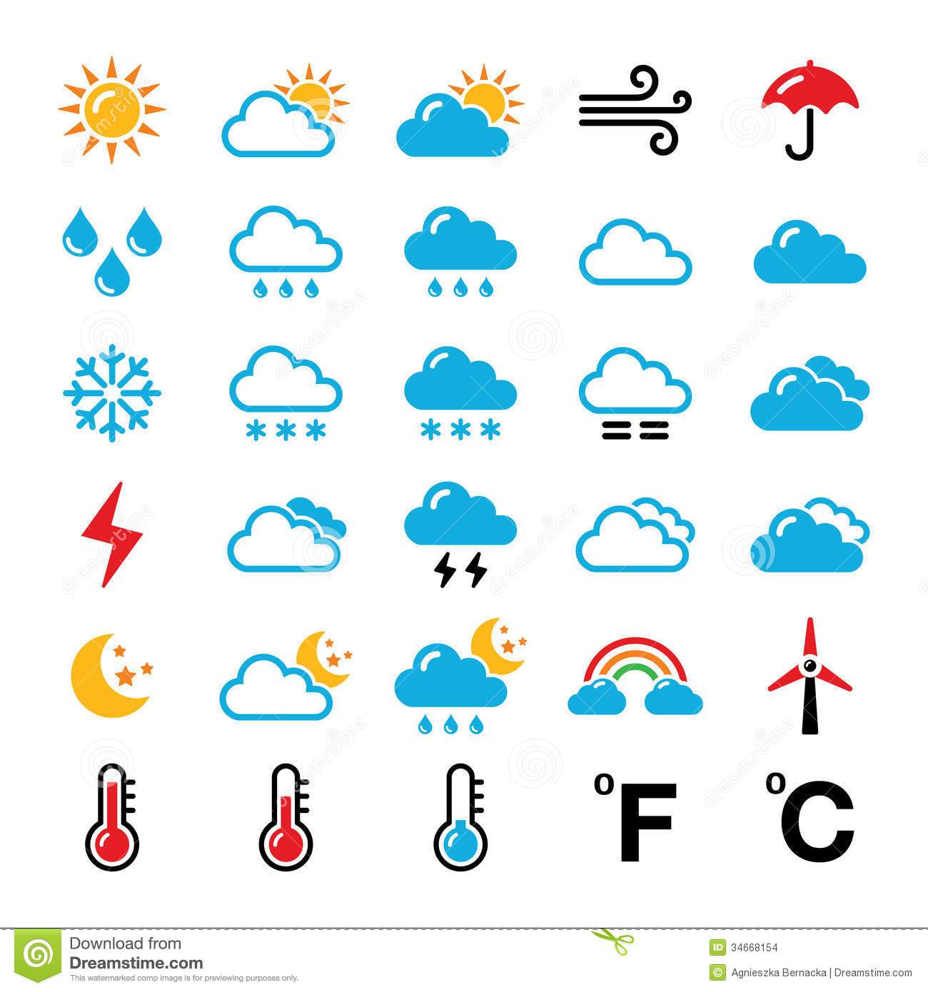 10 Weather Temperature Icons Images