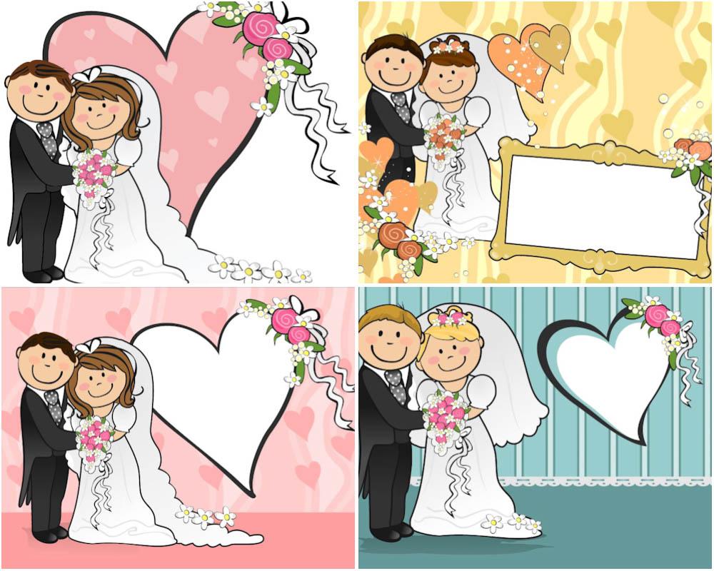11 Wedding Cartoon Vector Images
