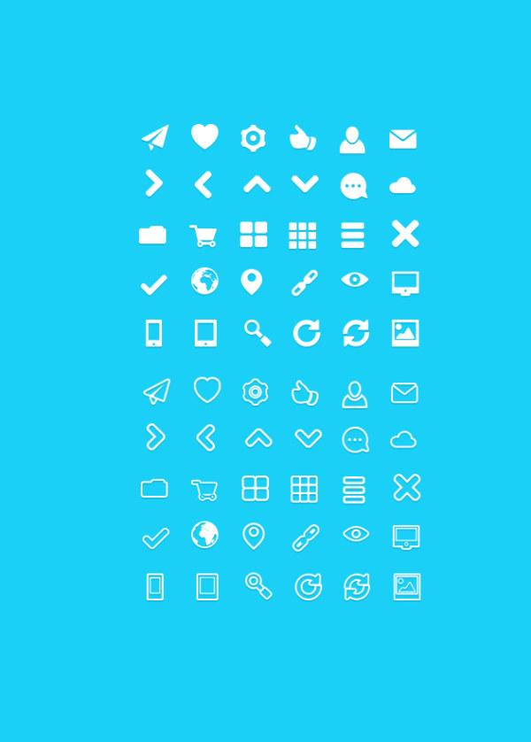White Icon PSD