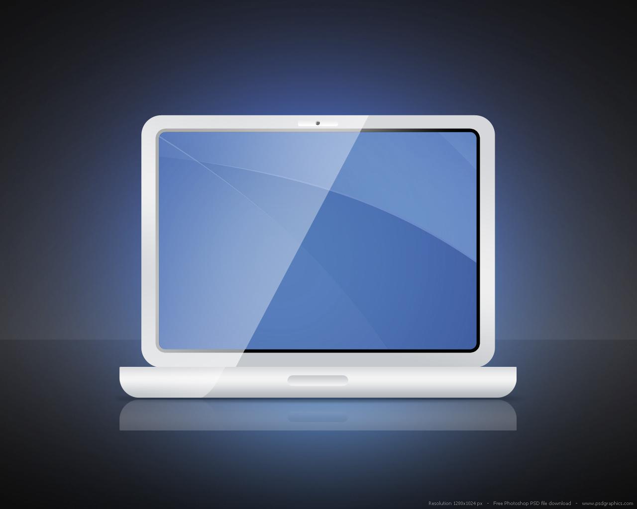 White Laptop Icon
