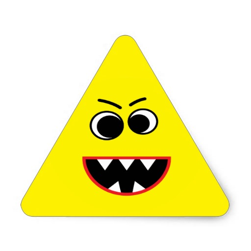 Yellow Smiley Face Triangle