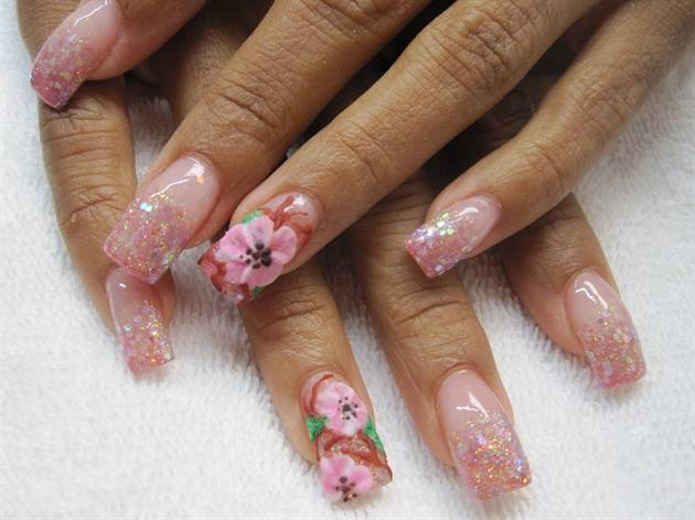 10 Acrylic Nail Art Design Images