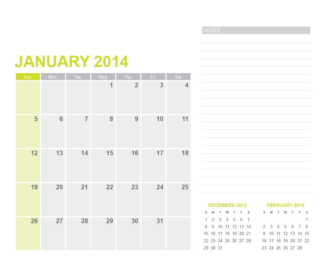 16 2014 Calendar Template Ai Images Letter Size Blank Calendar