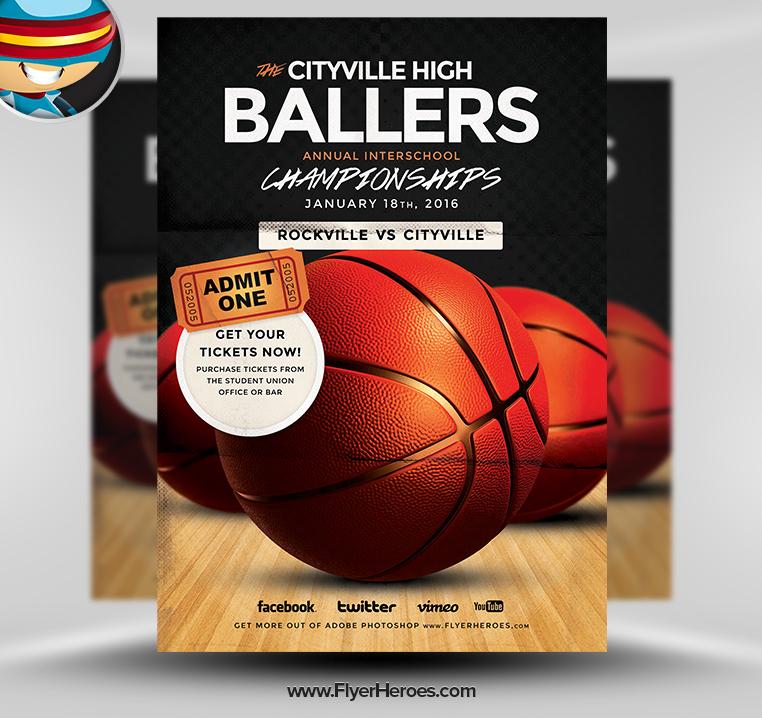 12 basketball tournament flyer psd templates free images for Basketball flyer template free