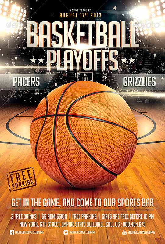 12 Basketball Tournament Flyer PSD Templates Free Images