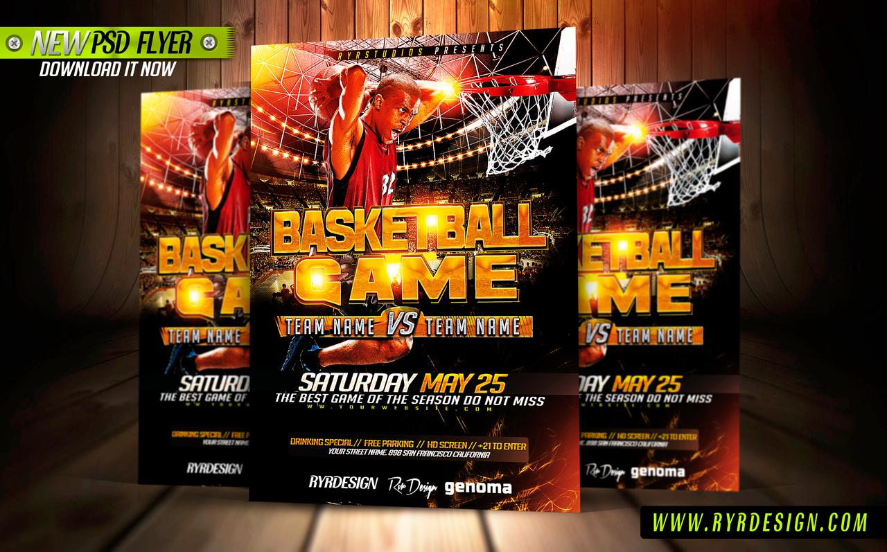 basketball tournament flyer templates free