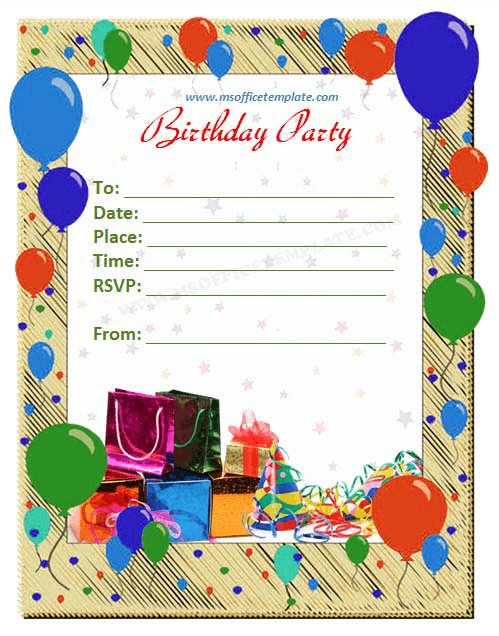 17 Free Birthday Templates For Word Images Free Birthday