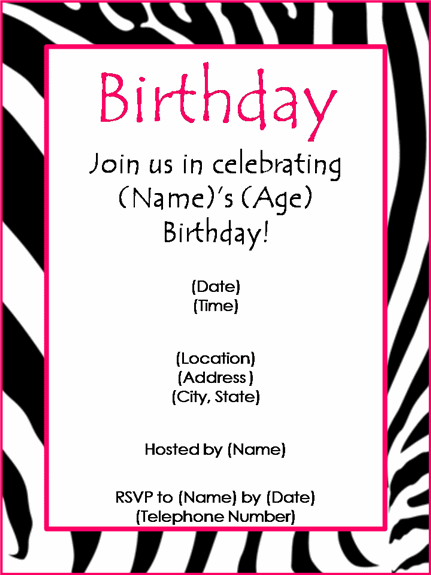 birthday party invitation templates word, Invitation templates