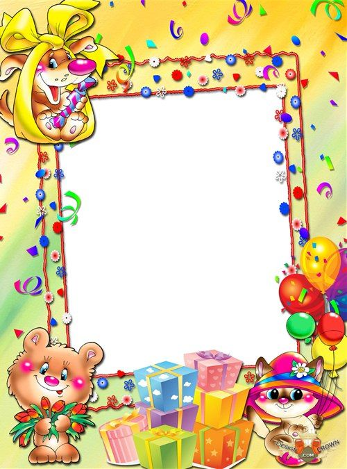 Birthday Photo Frames Templates for Kids