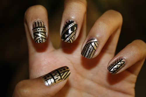 14 black nail designs tumblr images white nail designs