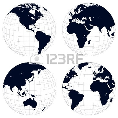 11 Vector Earth Black And White Images - World Map Black ...