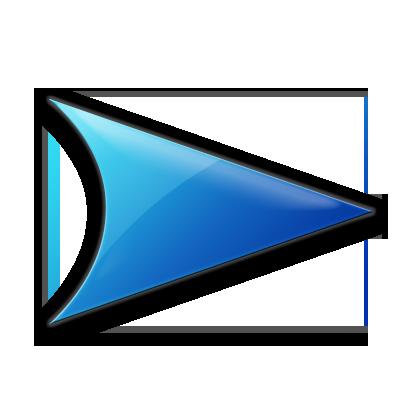 Blue Right Arrow Icon