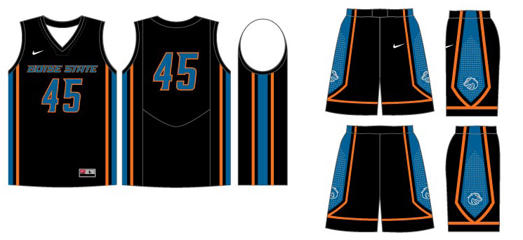 2faf8f01d76 Basketball Uniform Template PSD via. Boise State Basketball Uniforms