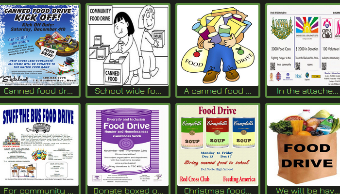 free food drive flyer templates