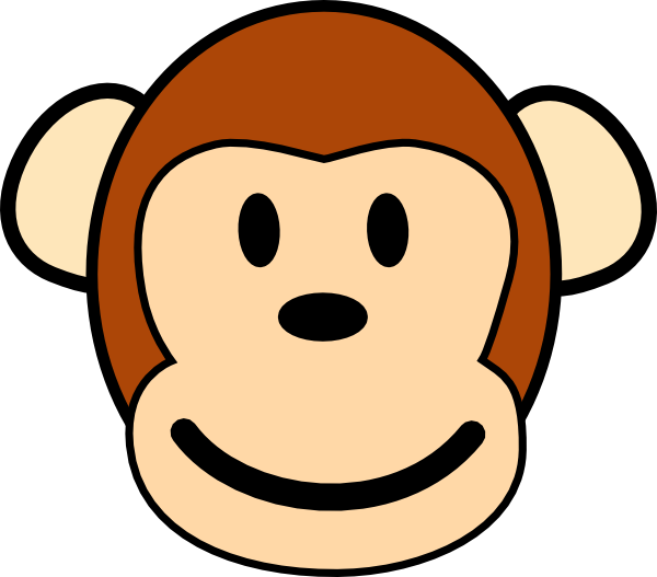 14 Monkey Cartoon Face Vector Images
