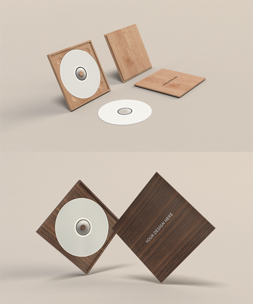 6 Stack Of CD Case PSD Images