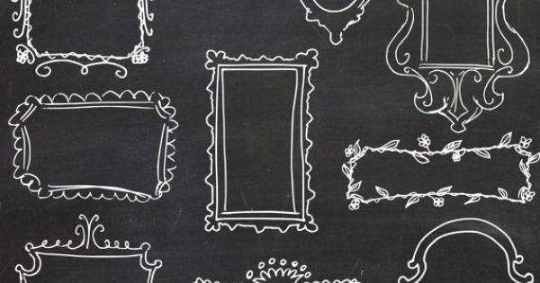 Chalkboard Doodle Frames Free