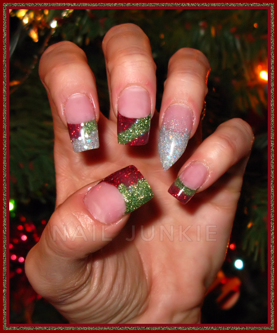 12 Christmas Acrylic Nail Designs Images Christmas Acrylic Nails