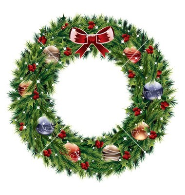 Christmas Wreath Vector Free