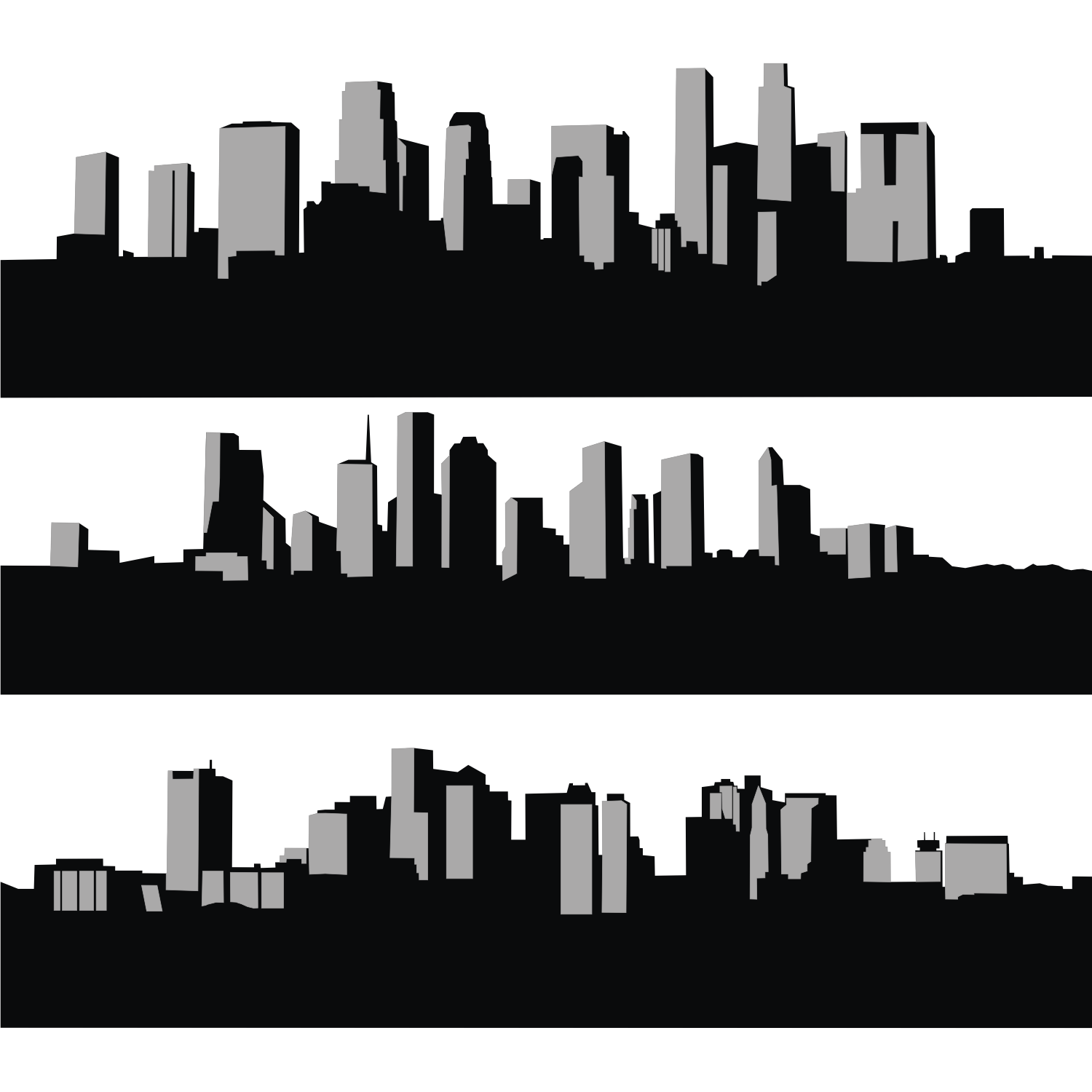 10 City Skyline Vector Images