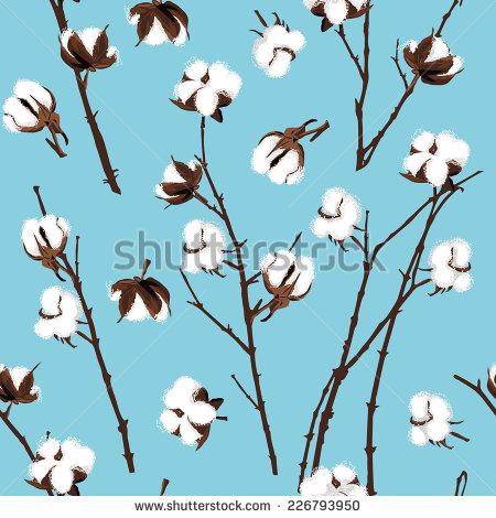 Cotton Plant Vector Art