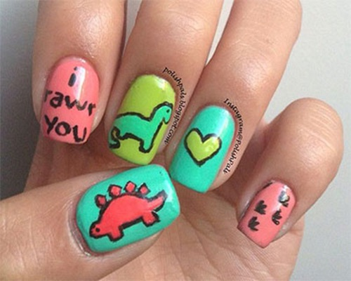 Cute Animal Nail Designs