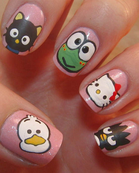 Cute Nail Salon Decals