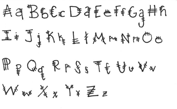 Different forms of writing alphabets for kids