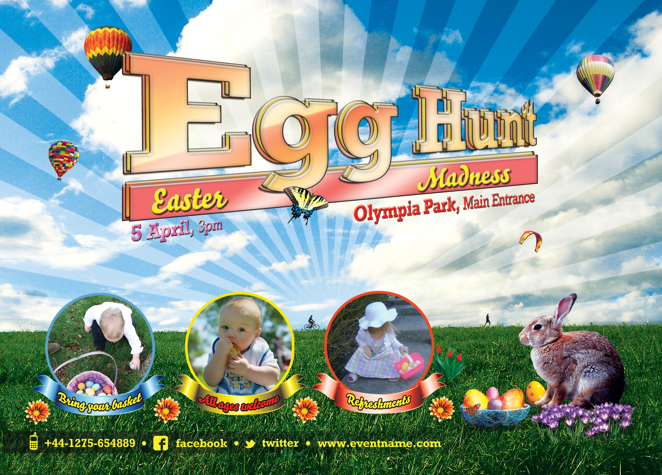 16 Free Easter Flyer PSD Templates Images