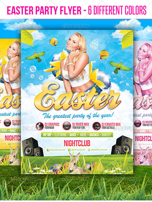 Easter Party Flyer Templates Free Download