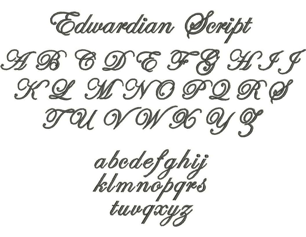 6 Edwardian Script Font Images