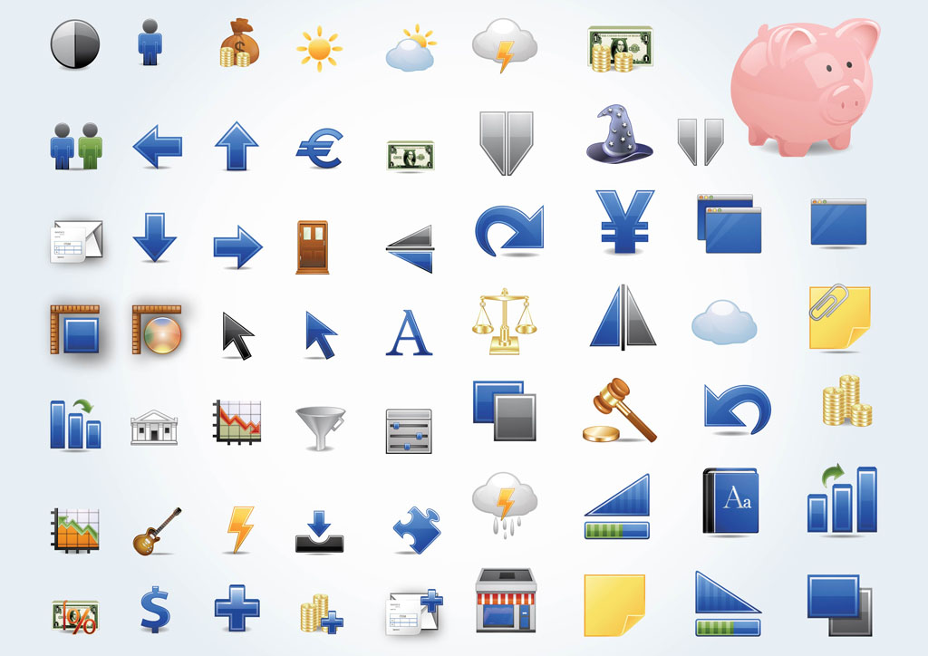 11 Financial Symbols Icon Images
