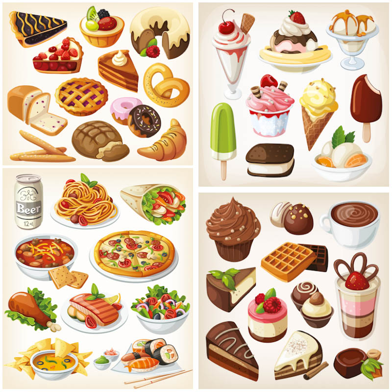 13 Food Vector Graphics Images