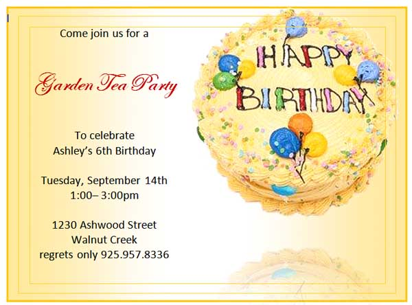 Free Birthday Invitation Templates Microsoft Word