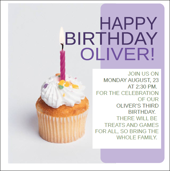 17 Free Birthday Templates For Word Images - Free Birthday Invitation Templates Microsoft Word ...