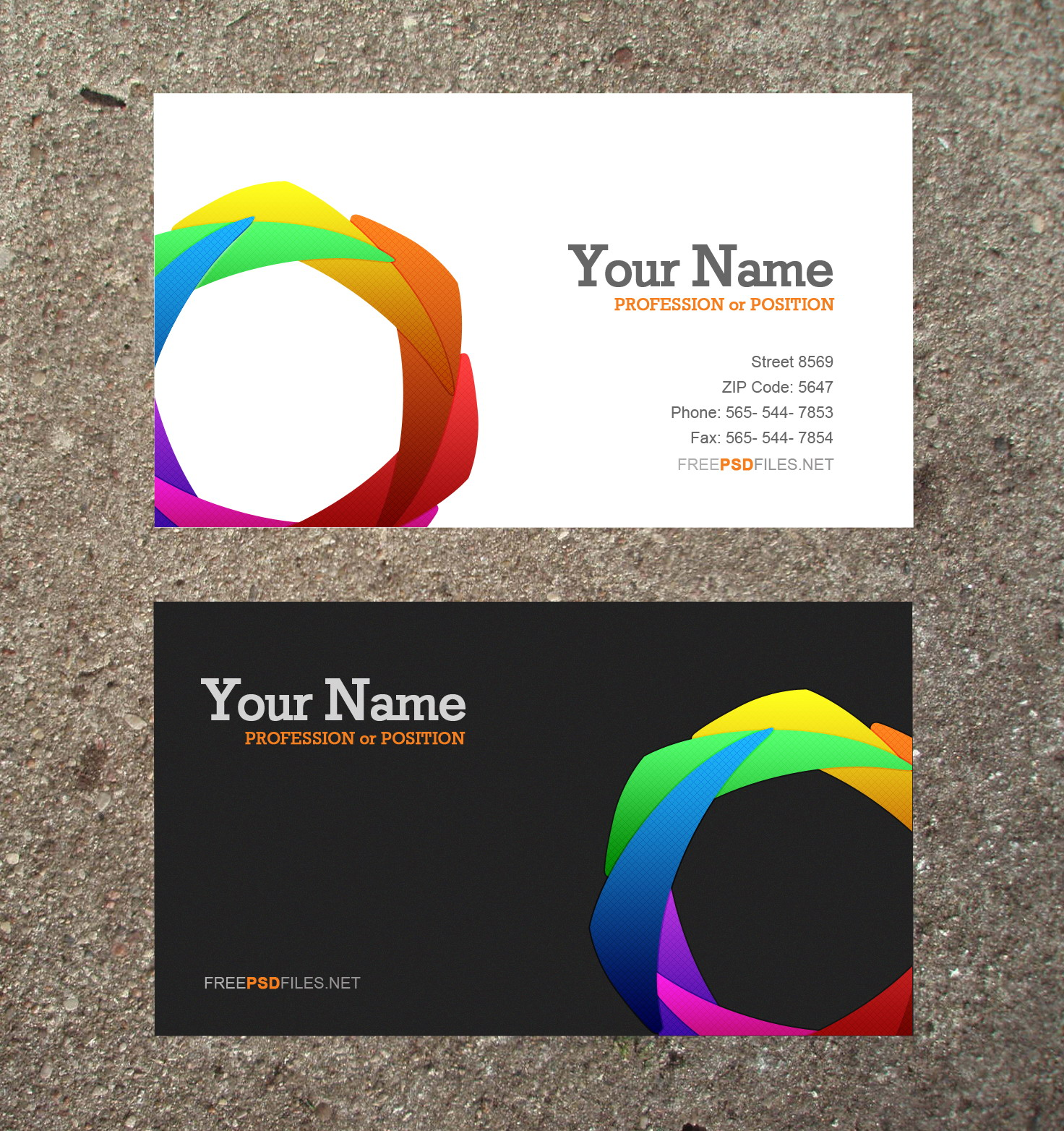 10 modern business card psd template free images free for Busniess card template