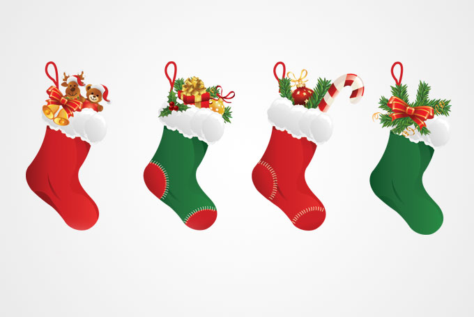 8 Free Christmas Stocking Vectors Images