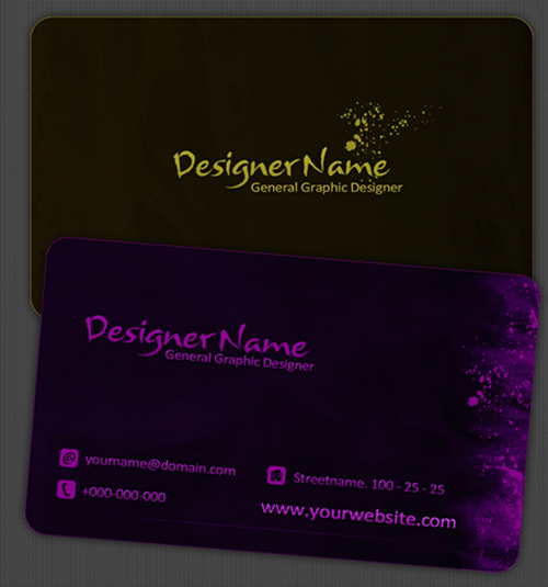 10 Modern Business Card PSD Template Free Images