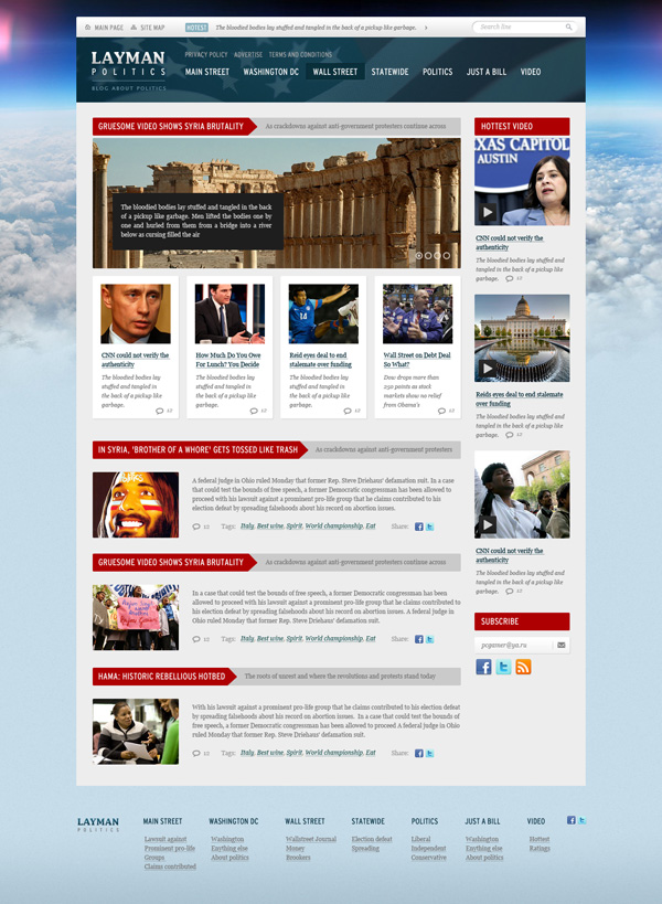 Free PSD Website Design Templates