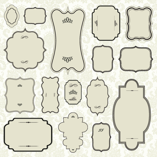 14 Free Vector Frame Shapes Images - Free Label Clip Art Borders and ...