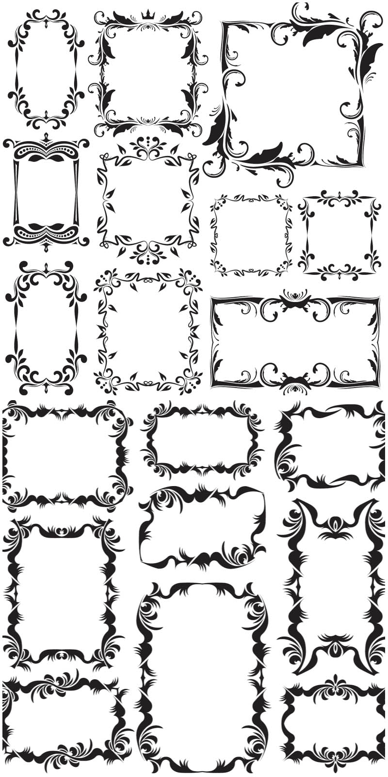 14 Vintage Vector Decorative Frames Images
