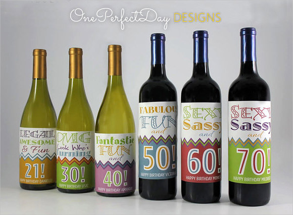 14 Wine Label Template PSD Images