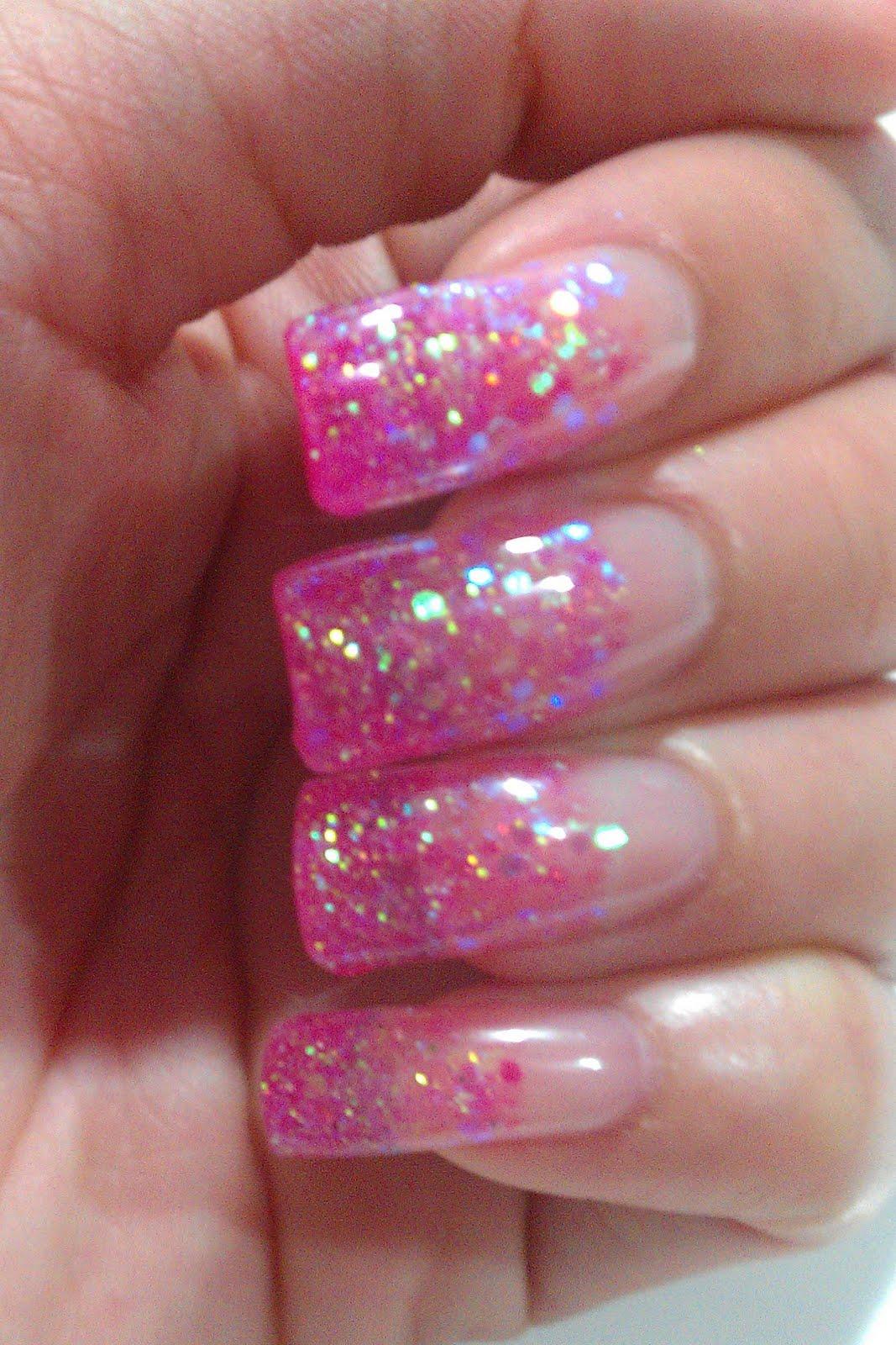 Glitter Gel Nail Art Designs