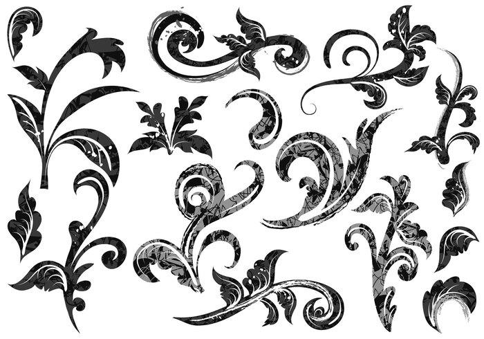15 Baroque Swirl Vector Images