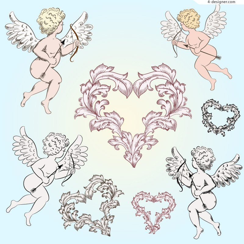 10 Angel Pattern Vector Images