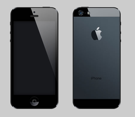 iPhone 5 Back Template